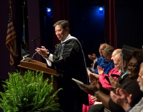U.S. Deputy Secretary of Labor Christopher P. Lu addressed a record crowd celebrating Lewis and Clark's Class of 2016 during the college's annual Commencement ceremony.