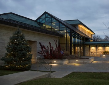 The Hatheway Cultural Center is decorated for the 2017 Holiday Season.