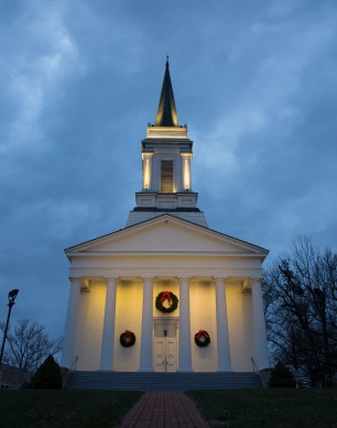 The Benjamin Godfrey Memorial Chapel is decorated for the 2017 Holiday Season.